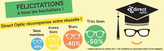 Promotion lunettes bacheliers