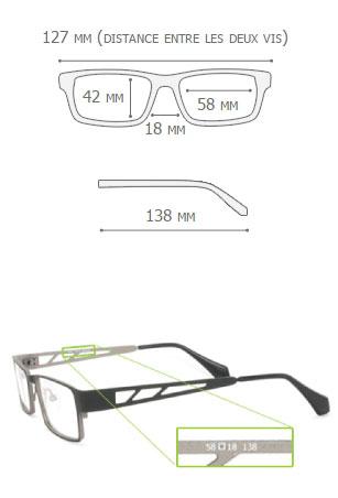 Dimensions des lunettes