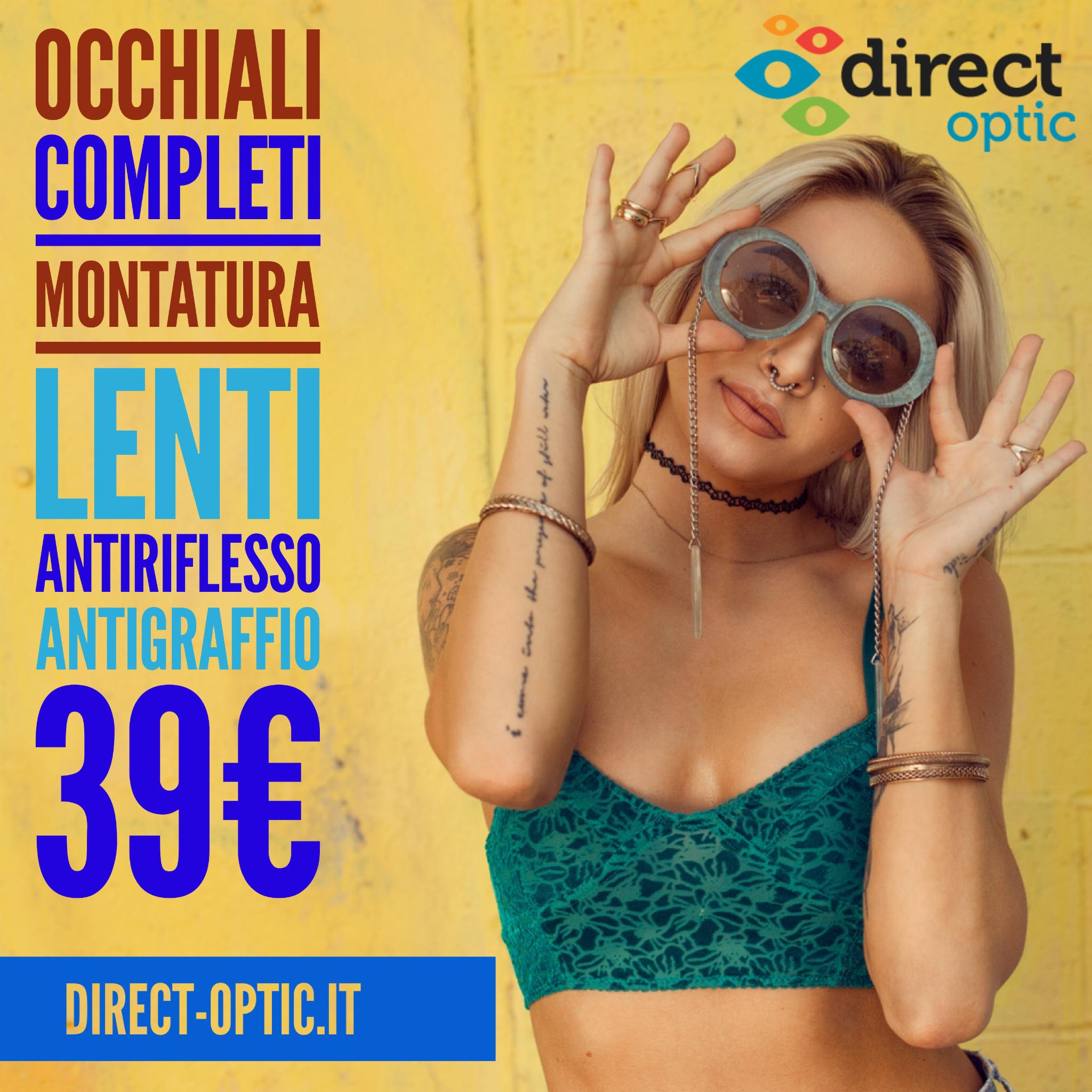 Direct optic occhiali online: qualità ai migliori prezzi